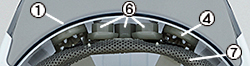 (写真3)エアライト搭載(シールド面なし)ヘルメット(ST#161V-JZ)